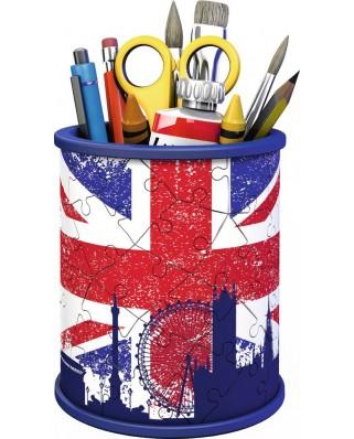 Puzzle 3D Ravensburger - Pencil Cup - Union Jack, 54 piese (11153)