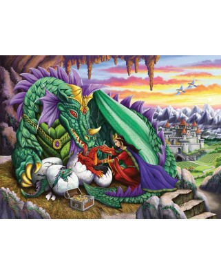 Puzzle Ravensburger - Queen of Dragons, 200 piese XXL (12655)