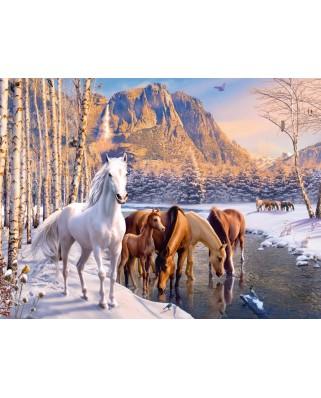 Puzzle Ravensburger - Horses, 200 piese XXL (12690)