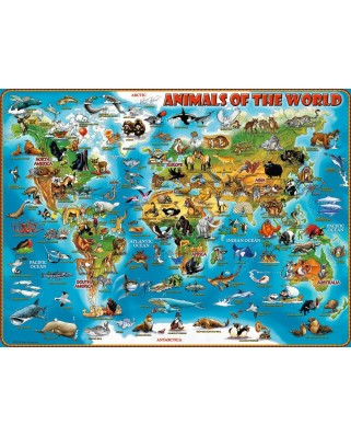 Puzzle Ravensburger - Animals around the World, 300 piese XXL (13257)