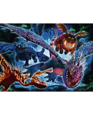 Puzzle fosforescent Ravensburger - How To Train Your Dragon, 100 piese (13710)
