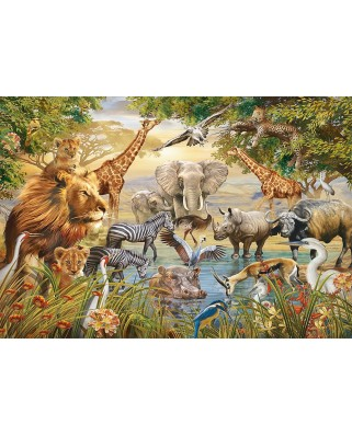 Puzzle Ravensburger - Animals at the Waterhole, 500 piese (14809)