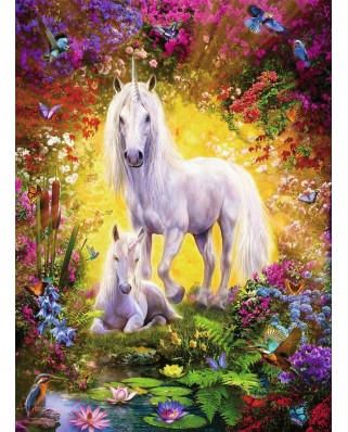 Puzzle Ravensburger - Unicorn with Foal, 500 piese (14825)