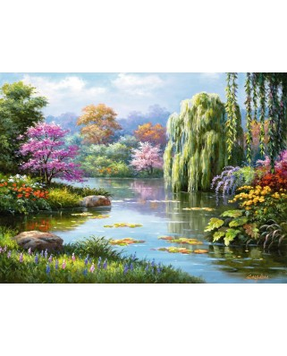 Puzzle Ravensburger - Romance at the Pond, 500 piese (14827)