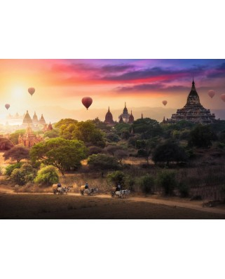 Puzzle Ravensburger - Balloons Over Myanmar, 1.000 piese (15153)