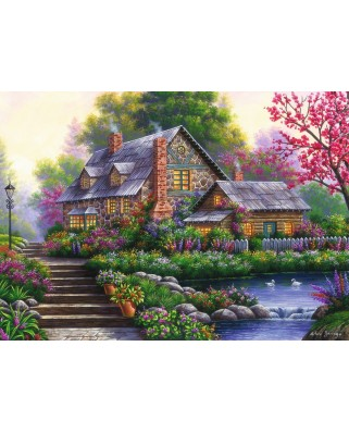 Puzzle Ravensburger - Romantic Cottage, 1.000 piese (15184)