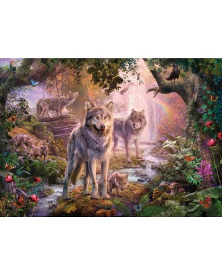 Puzzle Ravensburger - Wolf Family, 1.000 piese (15185)