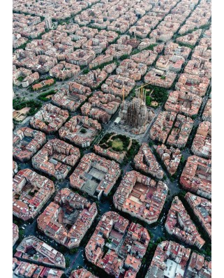 Puzzle Ravensburger - Barcelona From Above, 1.000 piese (15187)
