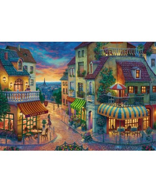 Puzzle Ravensburger - Evening in Paris, 1.000 piese (15265)