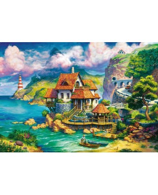 Puzzle Ravensburger - Cottage on the Cliff, 1.000 piese (15273)