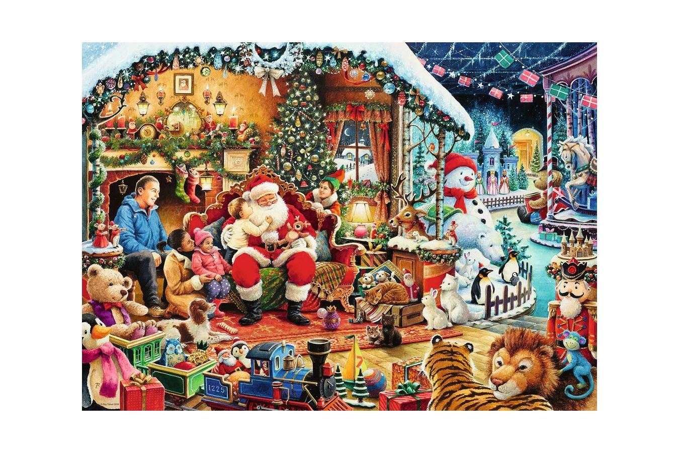 Puzzle Ravensburger - Let's visit Santa, 1.000 piese (15354)