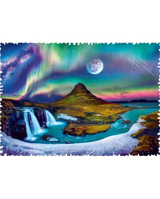 Puzzle Trefl - Crazy Shapes - Aurora over Iceland, 600 piese dificile (11114)