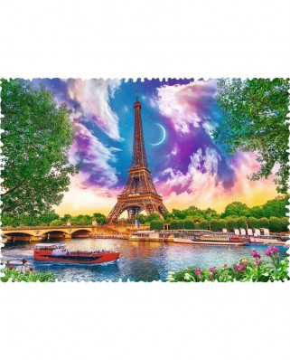 Puzzle Trefl - Crazy Shapes - Sky over Paris, 600 piese dificile (11115)