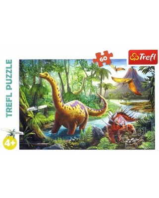 Puzzle Trefl - Dinosaurs, 60 piese (17319)