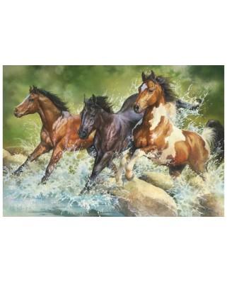 Puzzle Trefl - Three Wild Horses, 1500 piese (26148)