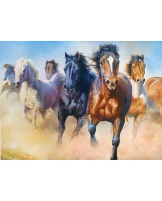 Puzzle Trefl - Galloping Herd of Horses, 2.000 piese (27098)