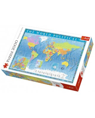 Puzzle Trefl - The World Political, 2.000 piese (27099)