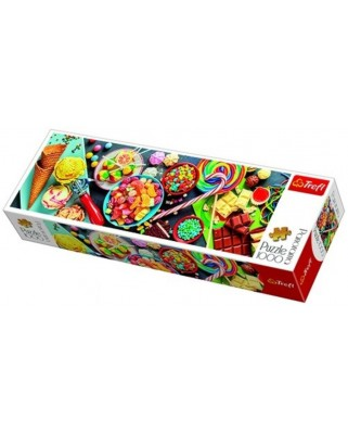 Puzzle panoramic Trefl - Sweet Delights, 1000 piese (29046)