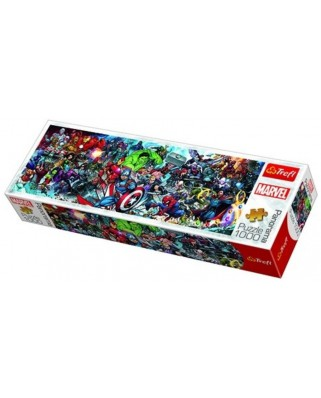 Puzzle panoramic Trefl - Join the Marvel Universe, 1.000 piese (29047)