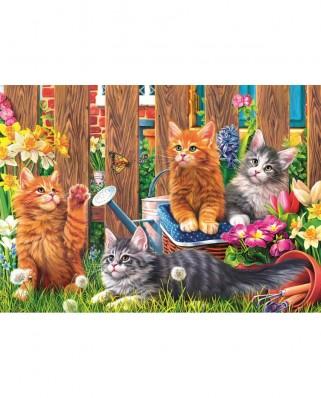Puzzle Trefl - Little kittens in the garden, 500 piese (37326)