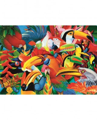 Puzzle Trefl - Colorful Birds, 500 piese (37328)