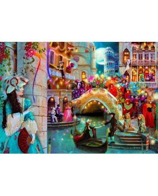 Puzzle KS Games - Aimee Stewart: Venice Carnival, 2.000 piese (KS-Games-11360)