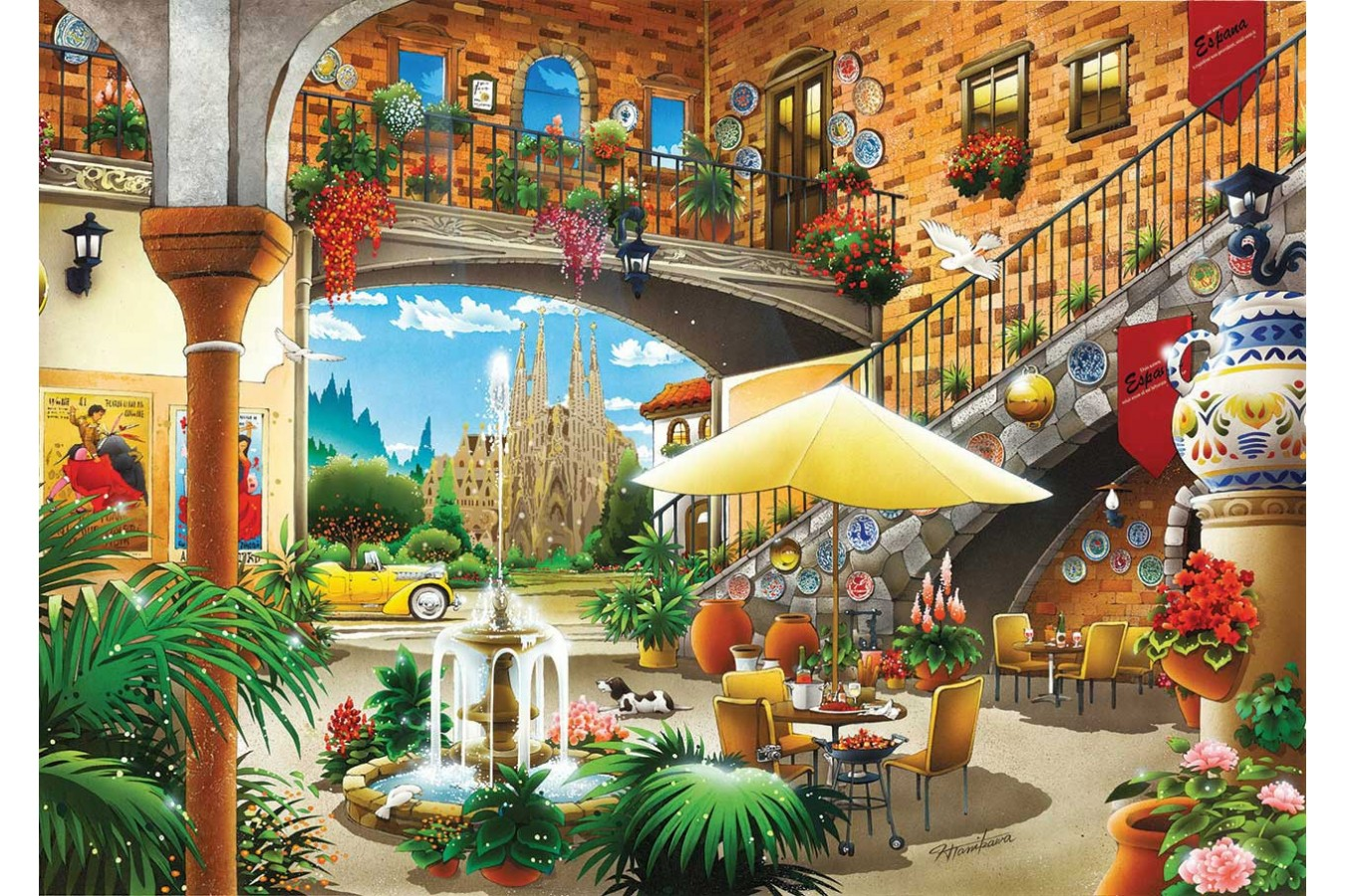 Puzzle KS Games - Barcelona, 1.000 piese (KS-Games-11389)