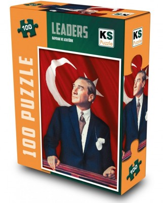 Puzzle KS Games - Bayrak Ve Ataturk, 100 piese (KS-Games-11170)