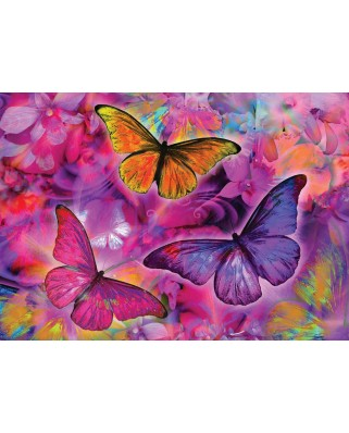 Puzzle KS Games - Butterflies And Orchids, 2.000 piese (KS-Games-11262)