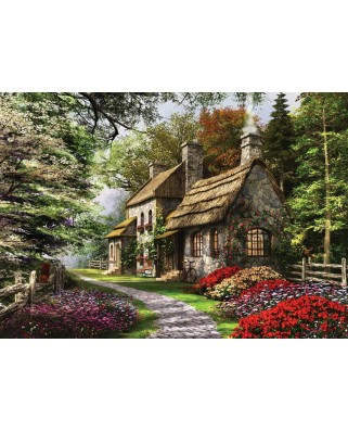 Puzzle KS Games - Dominic Davison: Country House In The Flowers, 1.000 piese (KS-Games-11261)