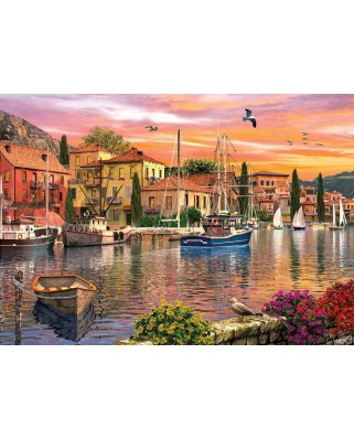 Puzzle KS Games - Dominic Davison: Harbour Sunset, 2.000 piese (KS-Games-11308)
