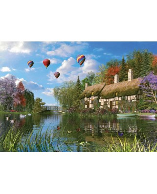 Puzzle KS Games - Dominic Davison: The Old Country House On The Riverbank, 1.000 piese (KS-Games-11272)