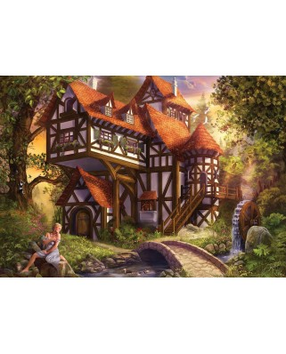 Puzzle KS Games - Drazenka Kimpel: Watermill, 1.000 piese (KS-Games-11387)