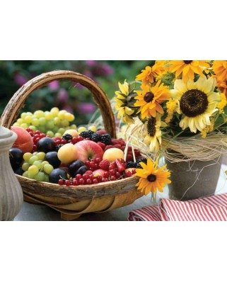 Puzzle KS Games - Fruits And unflowers, 1.000 piese (KS-Games-11227)