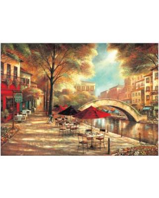 Puzzle KS Games - Ruanne Manning: Riverwalk Cafe, 500 piese (KS-Games-11230)