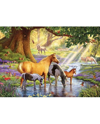 Puzzle KS Games - Steve Crisp: Horses by the Stream, 1.000 piese (KS-Games-11388)