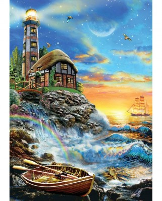 Puzzle KS Games - Twilight Lighthouse, 500 piese (KS-Games-11368)