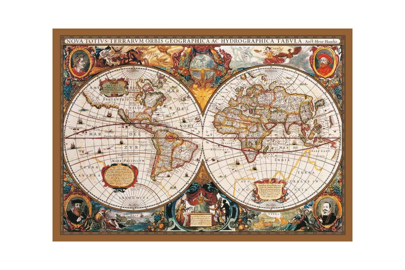 Puzzle KS Games - World Map from the 17th Century, 2.000 piese (KS-Games-11204)