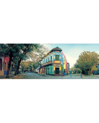 Puzzle panoramic KS Games - Calle Caminito, Argentina, 1.000 piese (KS-Games-11265)
