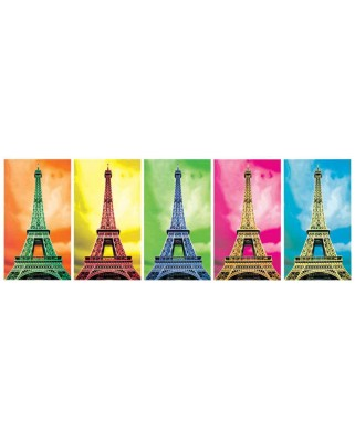 Puzzle panoramic KS Games - Pop Art: Eiffel Tower, 1.000 piese (KS-Games-11223)