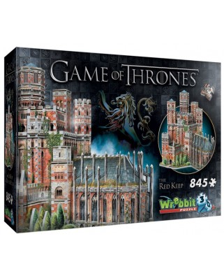 Puzzle 3D Wrebbit - Game of Thrones - The Red Keep, 845 piese (3D-2017)