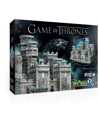 Puzzle 3D Wrebbit - Game of Thrones - Winterfell, 910 piese (3D-2018)