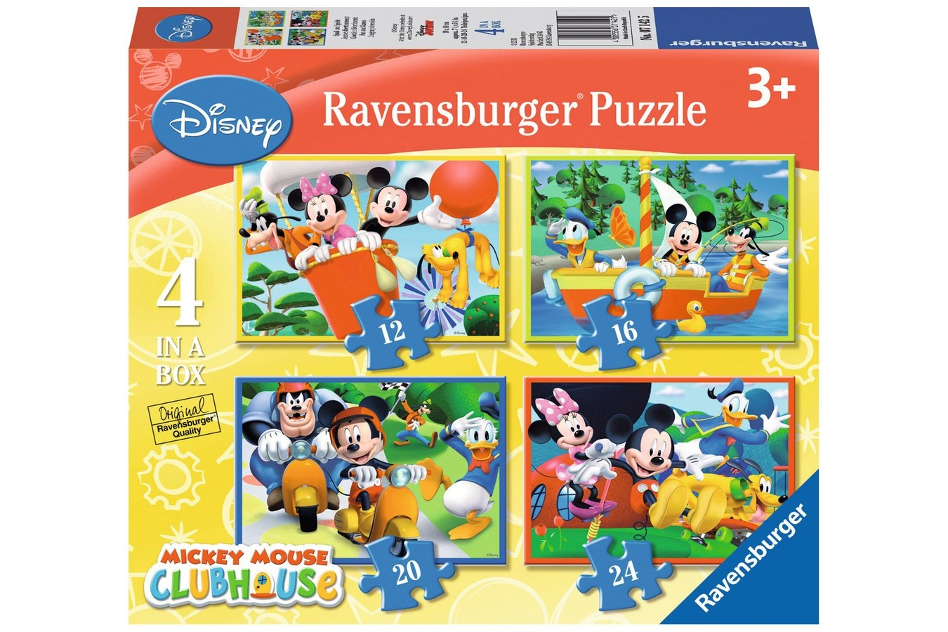 Puzzle Ravensburger - Clubul Lui Mickey Mouse, 12/16/20/24 piese (07142)
