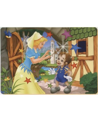 Puzzle de colorat D-Toys - Pinocchio and the fairy, 24 piese (Dtoys-61454-BA-02)