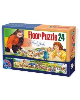 Puzzle de podea D-Toys - Gulliver, 24 piese XXL (Dtoys-60037-FP-03)
