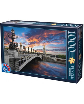 Puzzle D-Toys - Alexander III Bridge, Paris, France, 1.000 piese (Dtoys-62154-EC18-(74744))