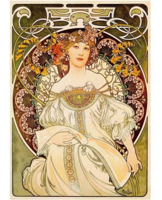 Puzzle D-Toys - Alfons Mucha: Daydream, 1.000 piese (Dtoys-66930-MU01-(66930))