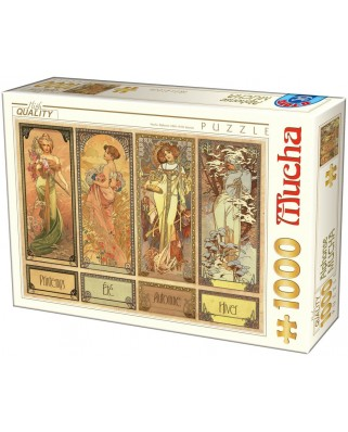 Puzzle D-Toys - Alfons Mucha: Seasons, 1.000 piese (Dtoys-75901)