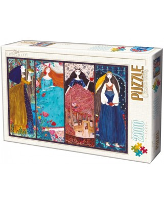 Puzzle D-Toys - Andrea Kurti: Collage, 2.000 piese (Dtoys-73860-KA01-(73860))