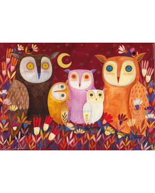 Puzzle D-Toys - Andrea Kurti: Owls, 1.000 piese (Dtoys-73747-OW01-(73747))